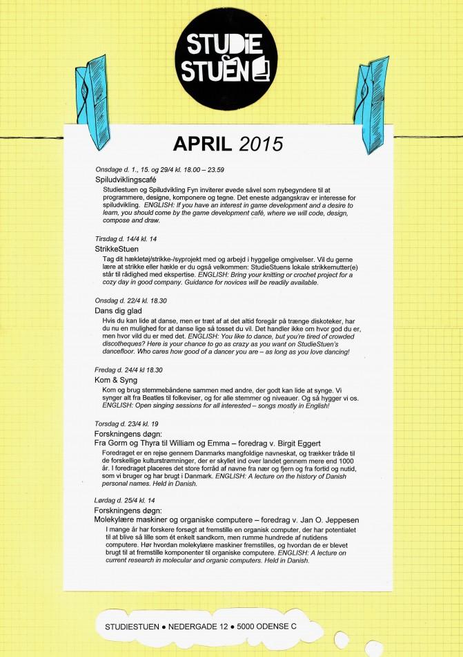 begivenhedskalender april 2015