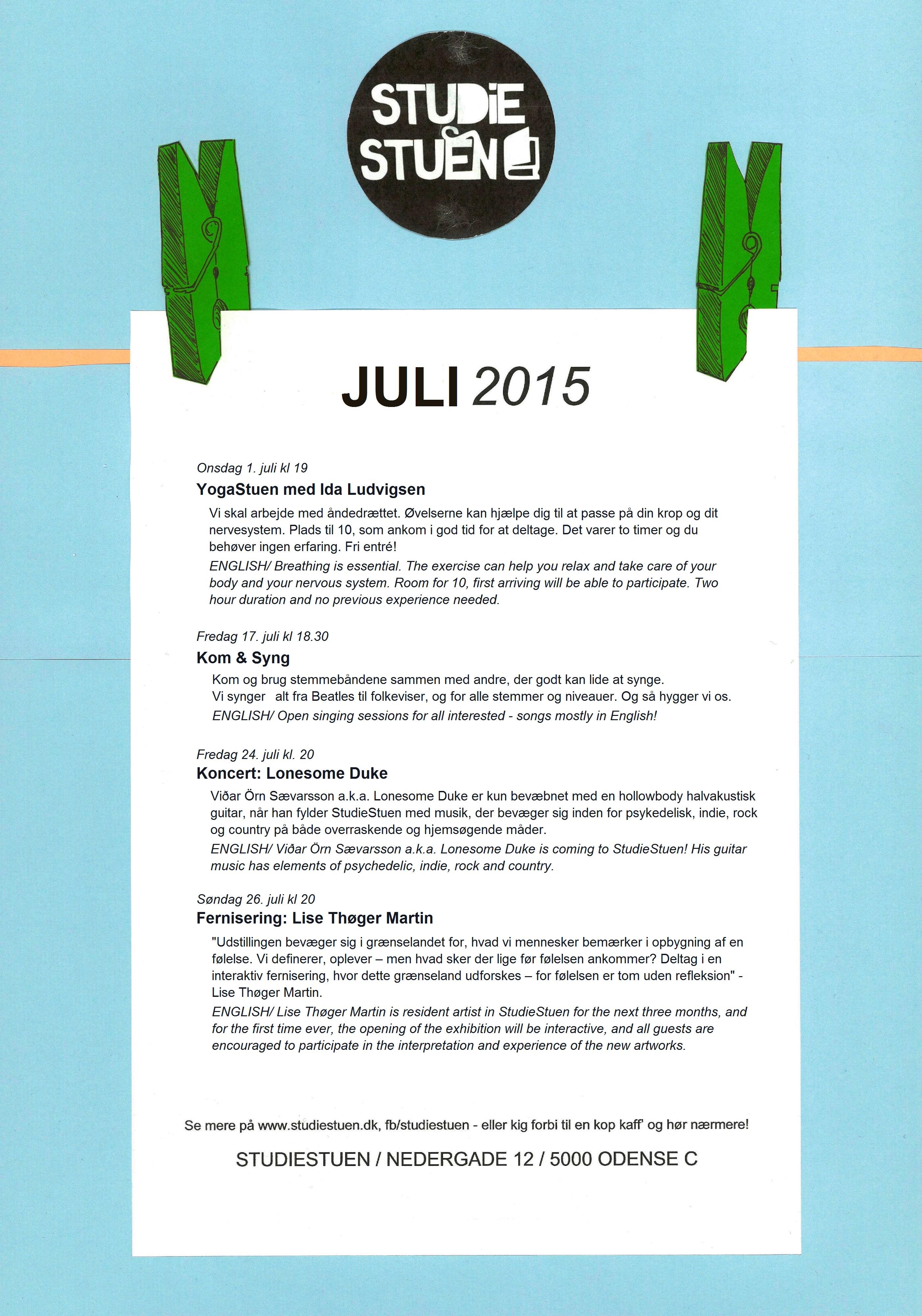 begivenhedskalender juli 2015