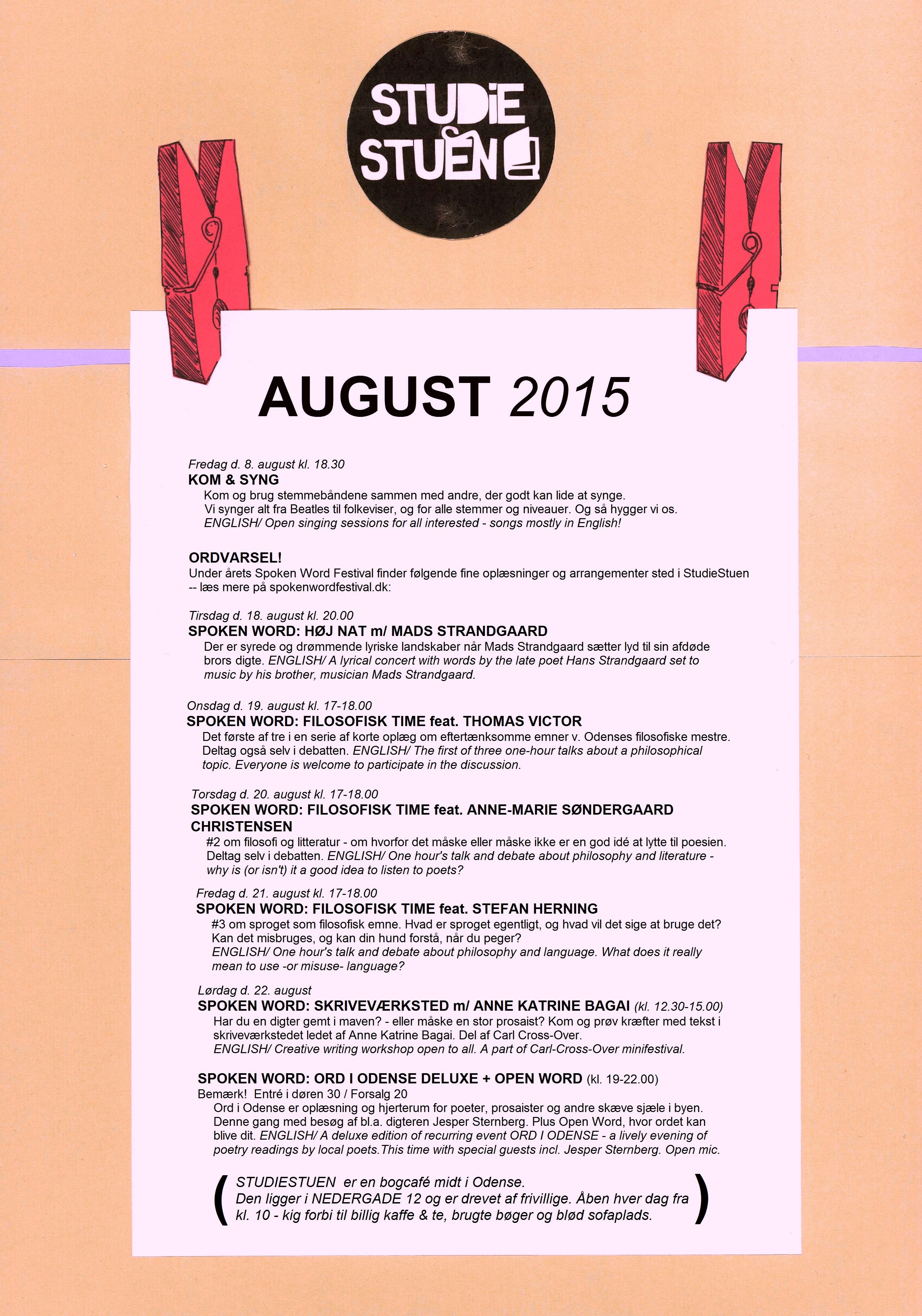 begivenhedskalender august 2015