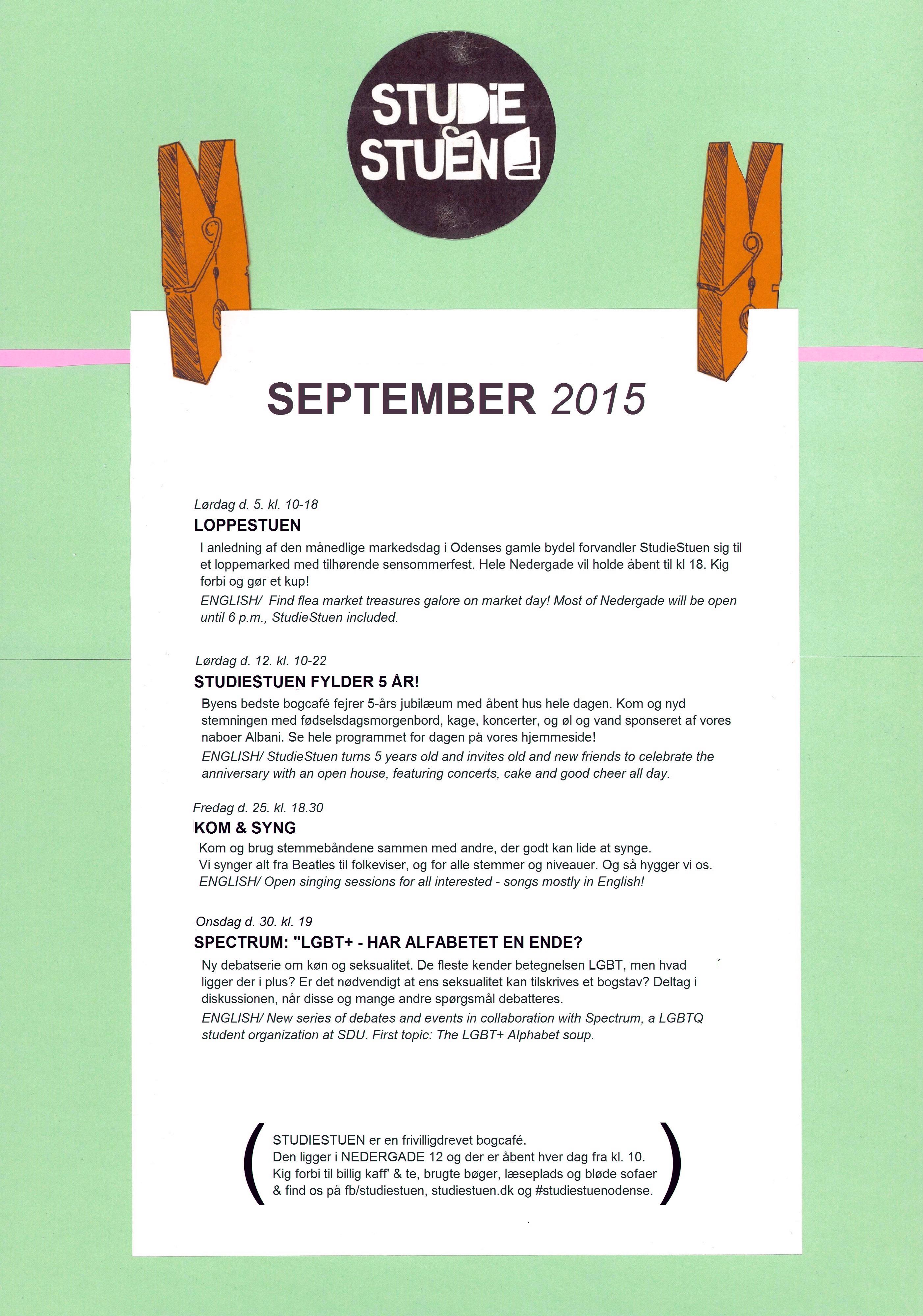 begivenhedskalender september 2015 - efterår