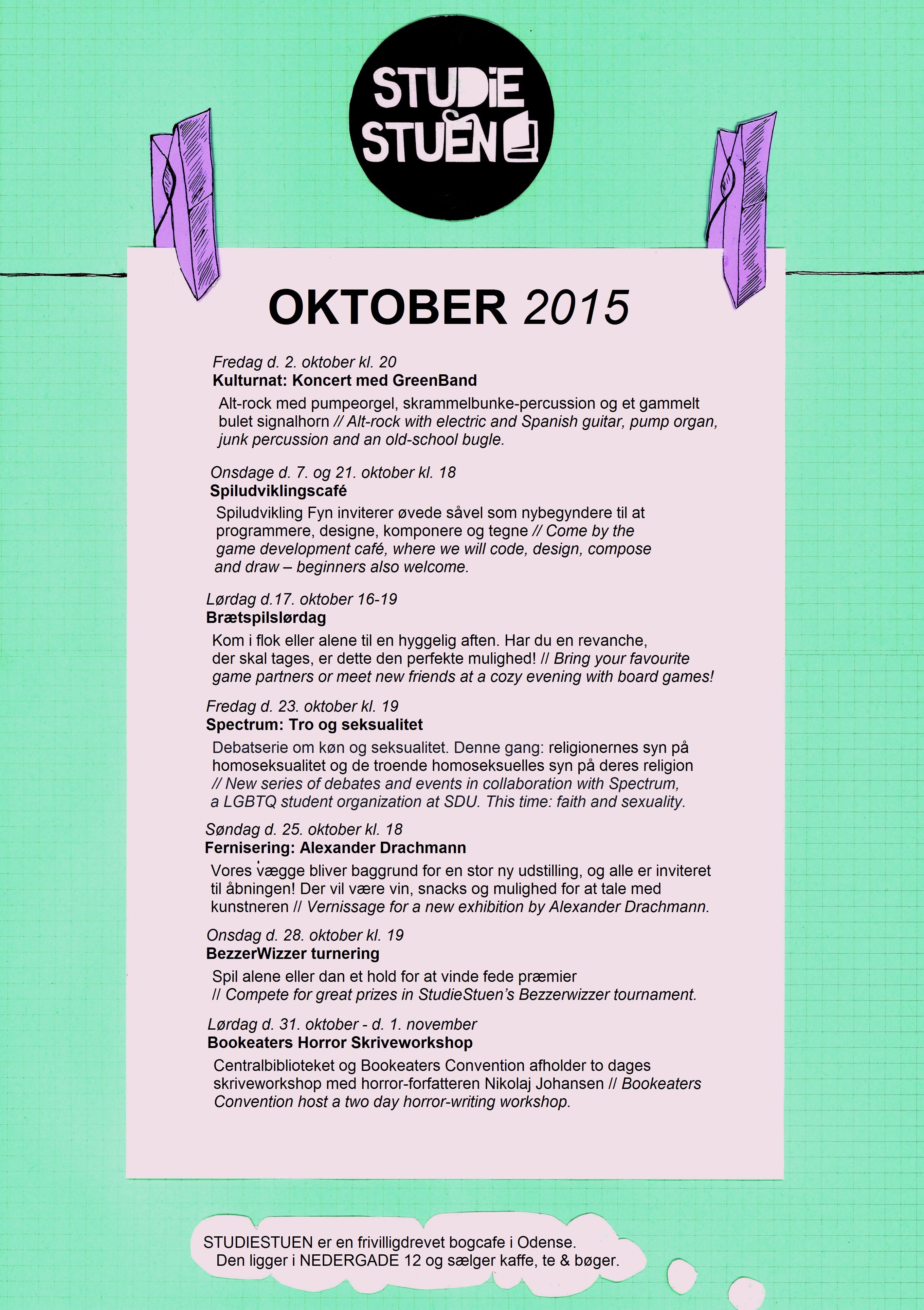 begivenhedskalender oktober 2015
