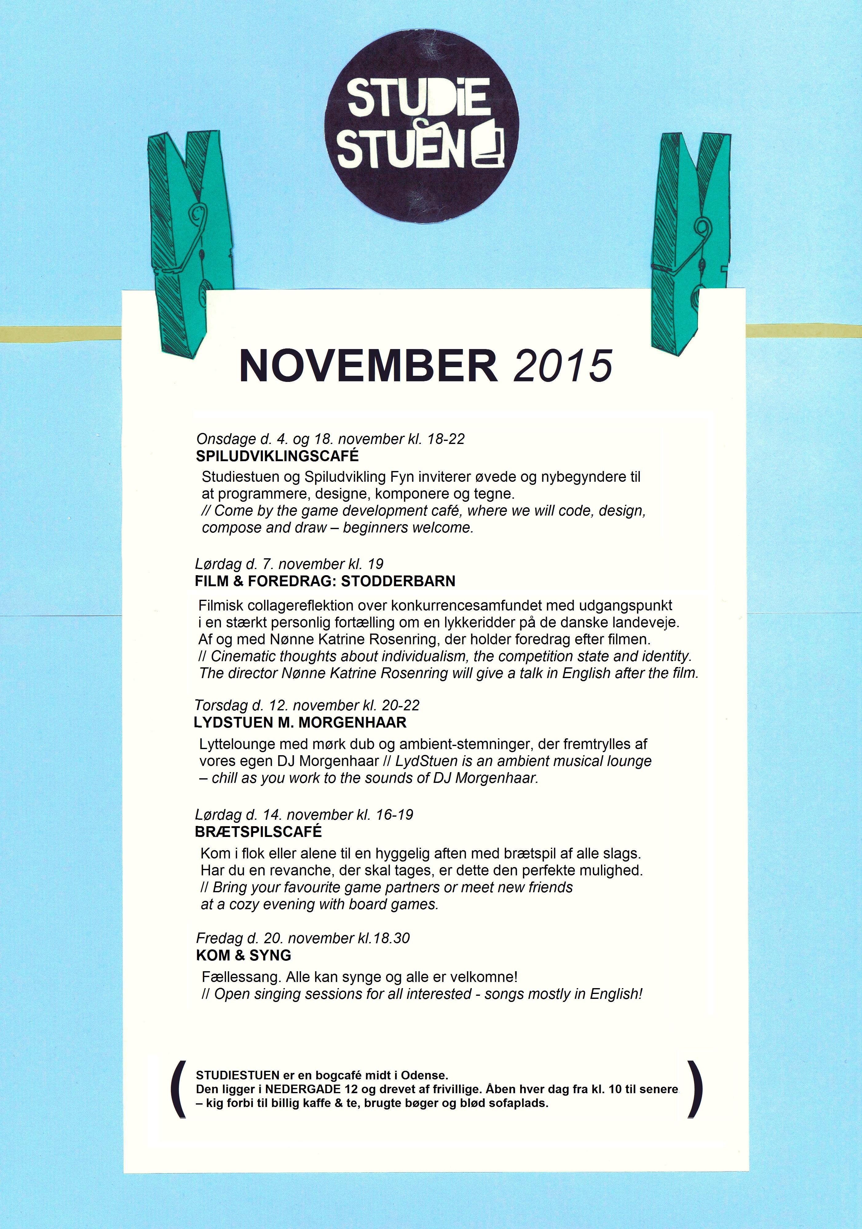 begivenhedskalenderen november 2015